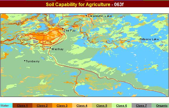agricultural  soil capability  The Pas area Manitoba