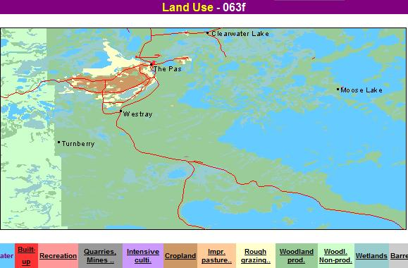 Land use The Pas Area manitoba